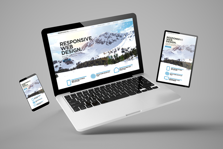 Image of website on different devices